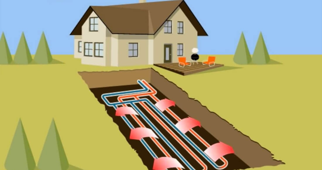 geothermal heating and cooling diagram