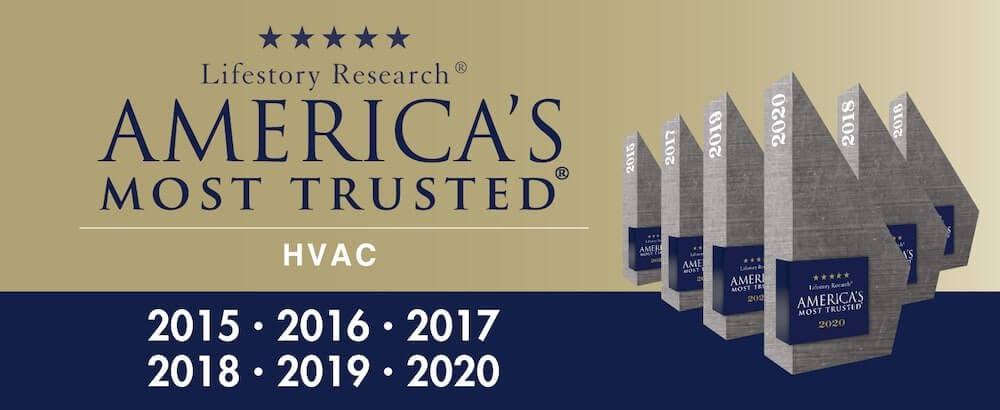 trane is america's most trusted hvac brand 2015-2020