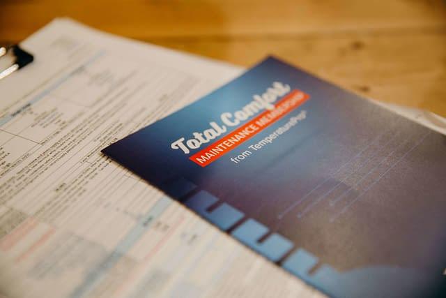 Total comfort maintenance membership packet